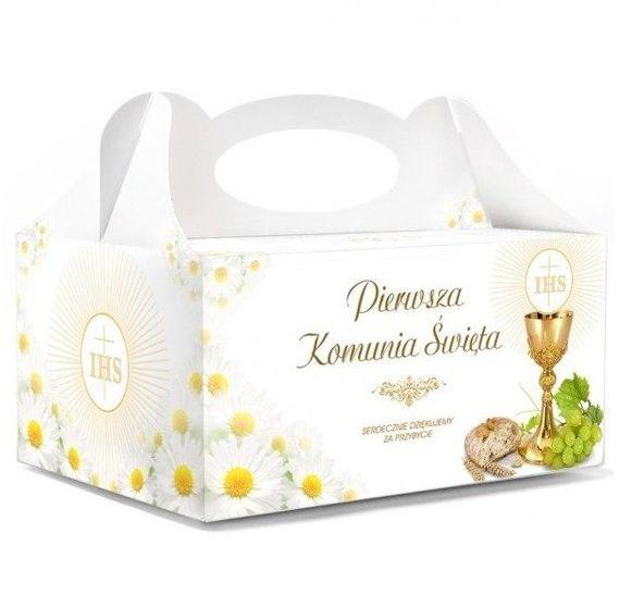Dekoracjepolska Pudełka na ciasto komunijne 10 sztuk PUDKX/10 PUDKX/10