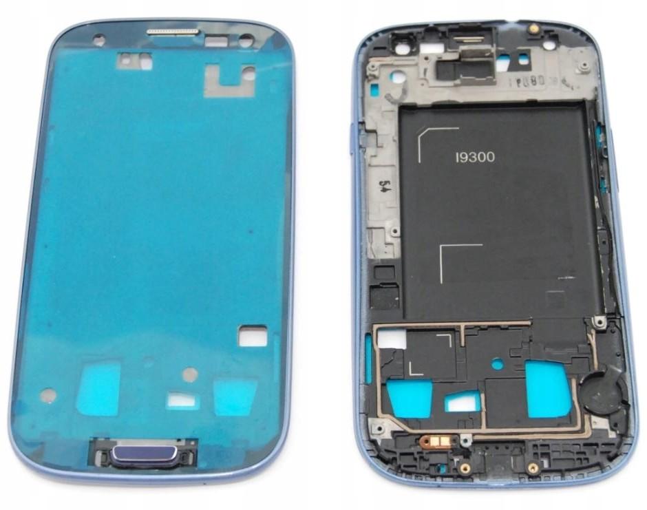 Samsung Ramka LCD Galaxy S3 i9305 Niebieski