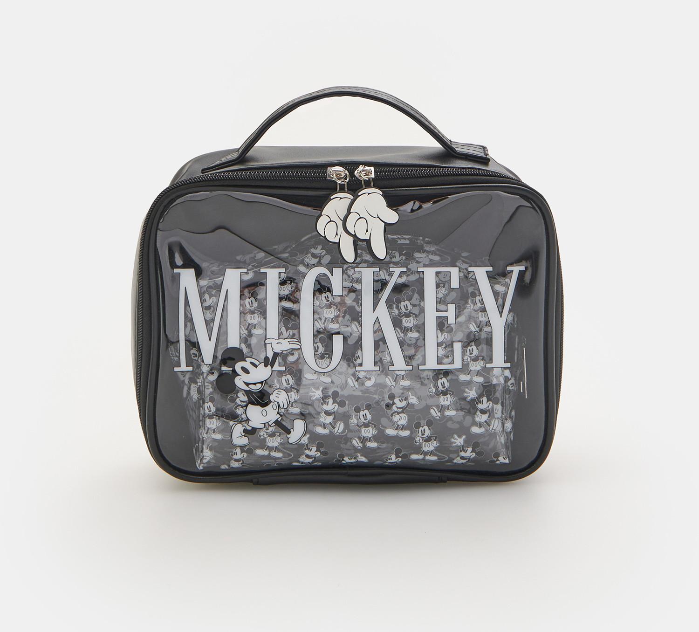Sinsay Sinsay - Kosmetyczki Myszka Miki 2 pack - Czarny