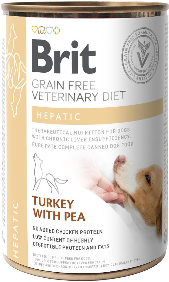 Brit VET Brit Veterinary Diet Hepatic Turkey&Pea Mokra Karma dla psa op 400g