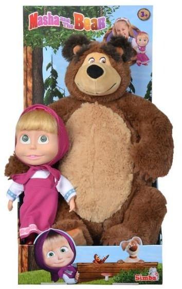 Simba Masza i Niedźwiedź Zestaw Miś + lalka duży
