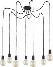 TK Lighting Qualle lampa wisząca 7-punktowa czarna 2363 TK2363