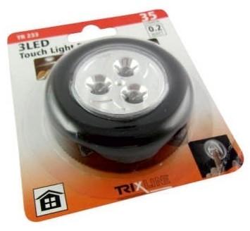 Baterie Centrum LED Nocne światło dotykowe LED/0,2W/3xAAA czarne