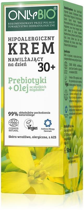 Bio ONLY ONLY ECO ONLYBIO Hipoalergiczny krem nawilżający na dzień 30+ 50 ml 22145