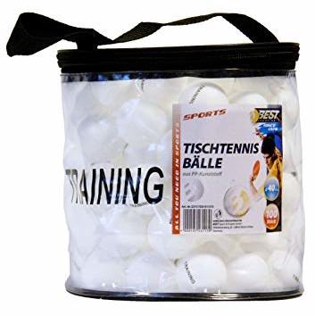 Pilki Best Sporting do tenisa stołowego do tenisa stołowego 40 MM, 100 sztuk w pokrowcu, plastik (23117)