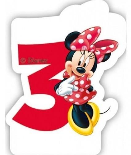 PARTY WORLD Świeczka cyferka Myszka Minnie Mouse - 3 SCMM/9226-3-5