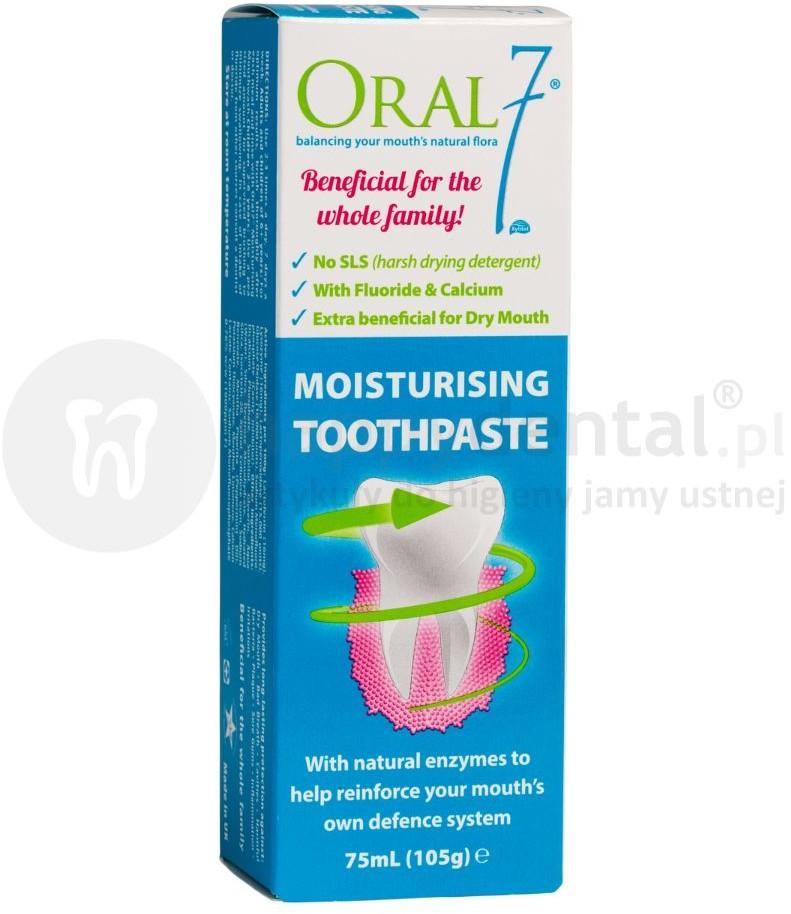 ORAL7 ORAL7 Moisturising pasta do zębów z kompleksem enzymów do stosowania w suchości jamy ustnej