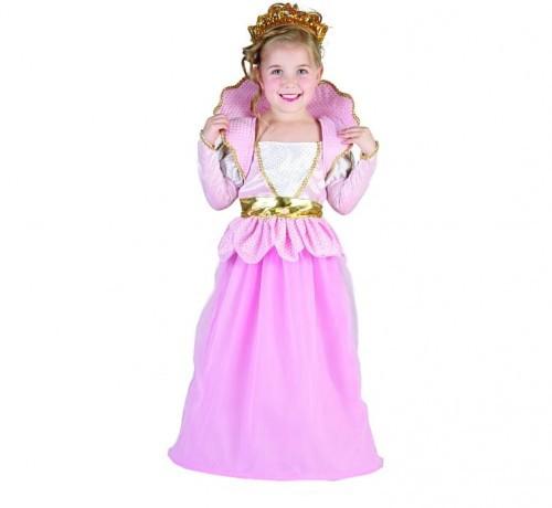 PARTY WORLD Przebranie dla dziewczynki Mała Księżniczka różowo-złota SDZ/1064M-5