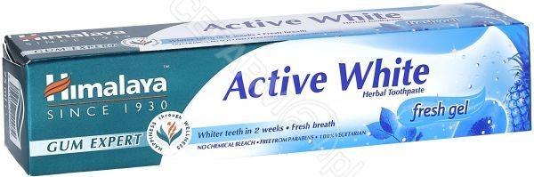 Himalaya Active White ziołowy żel do mycia zębów 75 ml