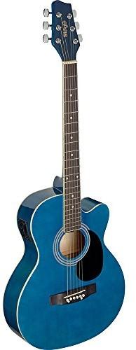 Stagg SA20ACE BLUE audytorium wycięcie gitara elektroakustyczna - niebieska SA20ACE BLUE