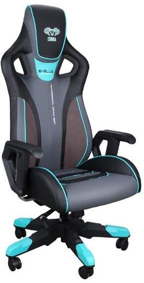 E-BLUE Fotel Gaming E-BLUE COBRA III czarno-niebieski EEC313BLAA_IA