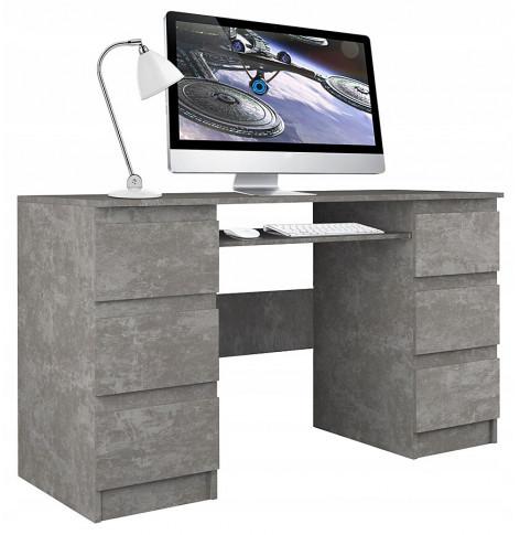 Elior Industrialne biurko Liner 2X - beton