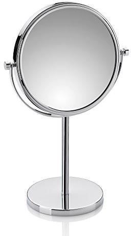 Kela fabienne lusterko stojące, metalowa, srebrna, 23.5 x 13.5 x 37.5 cm 20642