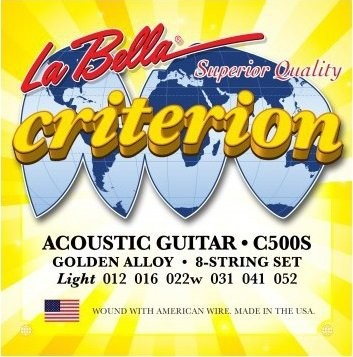 LaBella C500S Criterion struny do git akustycznej 12-52
