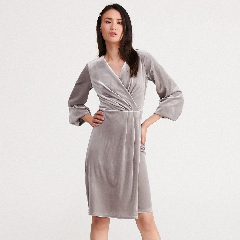 Reserved Kopertowa sukienka - Srebrny