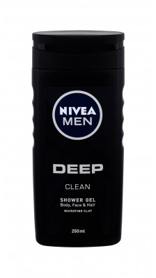Nivea Men Deep Clean żel pod prysznic 250 ml dla mężczyzn