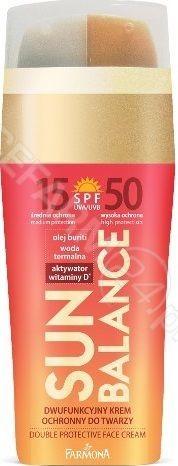 Sun Balance Dwufunkcyjny krem ochronny do twarzy SPF15/SPF50 30ml (2x15ml)