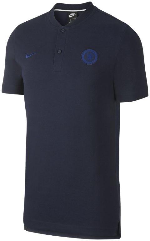 Nike Męska koszulka piłkarska polo Chelsea FC - Niebieski AT4327-451