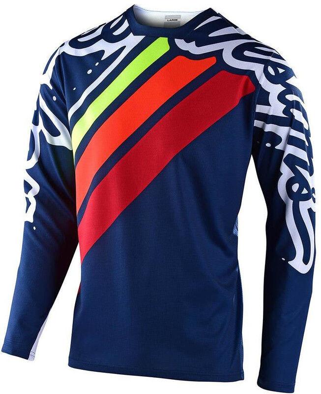 Troy lee designs Troy Lee Designs Sprint Factory Koszulka rowerowa z długim rękawem, navy/red M 2020 Koszulki MTB i Downhill 323 782 003