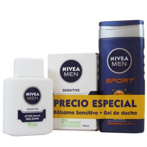 Nivea Men Zestaw Balsam po goleniu Sensitive + Żel