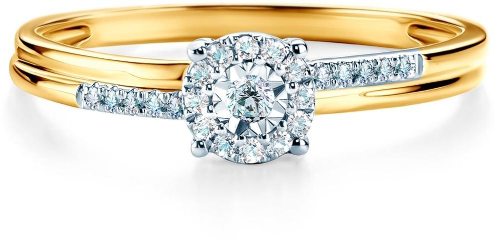 Savicki Pierścionek zaręczynowy dwukolorowe złoto, diamenty SAVR46876 YW