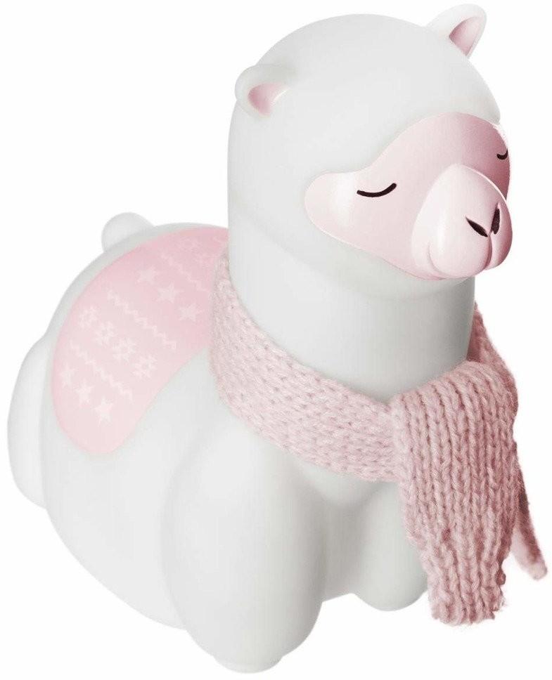 Atmosphera for kids Lampka do pokoju dziecięcego urocza święcąca lama zachwyci każdego malucha B07FXQ6273
