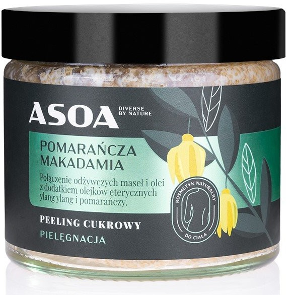 ASOA ASOA peeling cukrowy Pomarańcza/Makadamia 250ml 51477-uniw