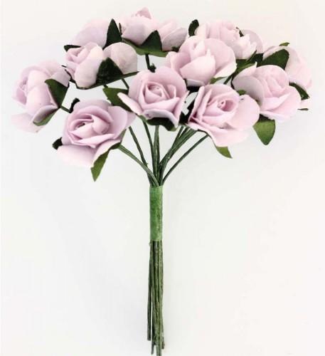 ARGO Kwiaty papierowe bukiecik RÓŻE 12szt. różowe