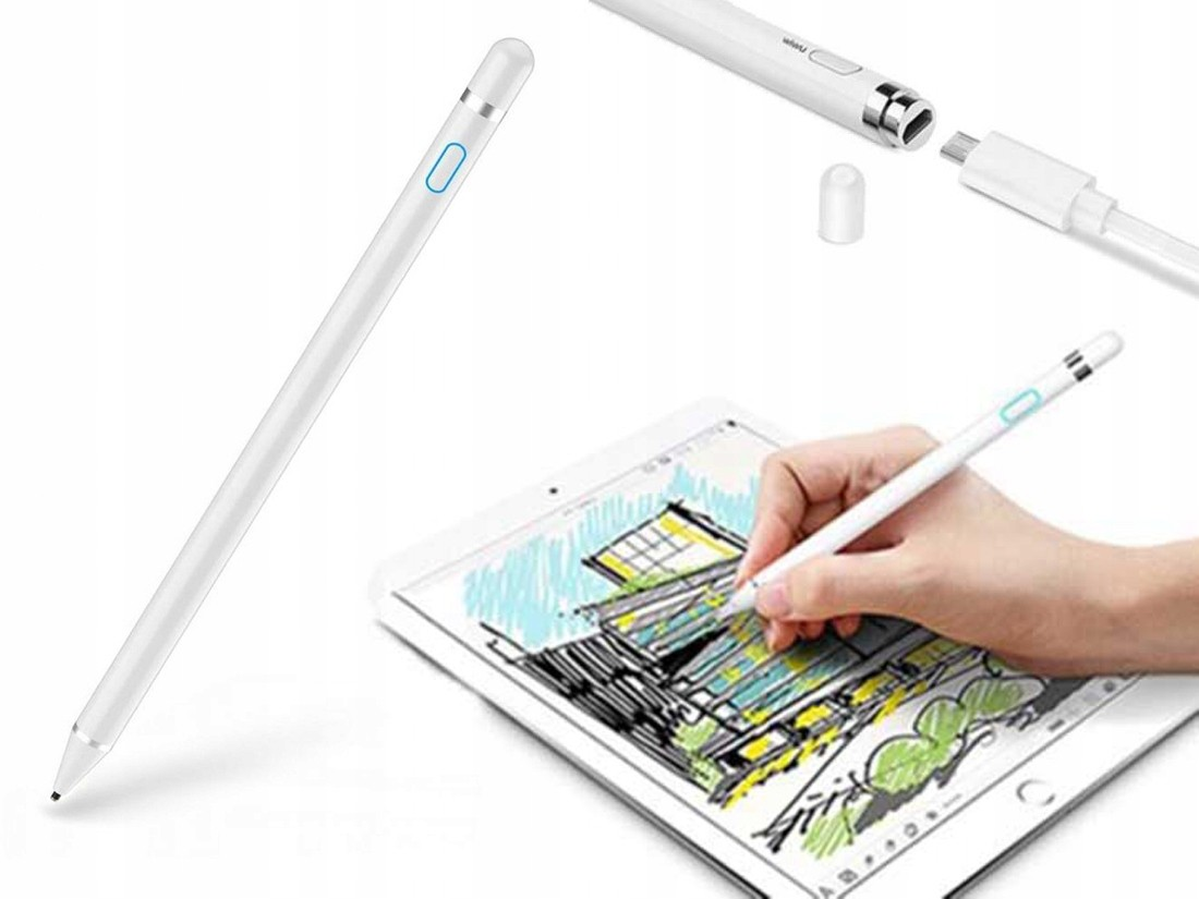 Rysik Do Ekranu Dotykowego Active Stylus Pen Biały