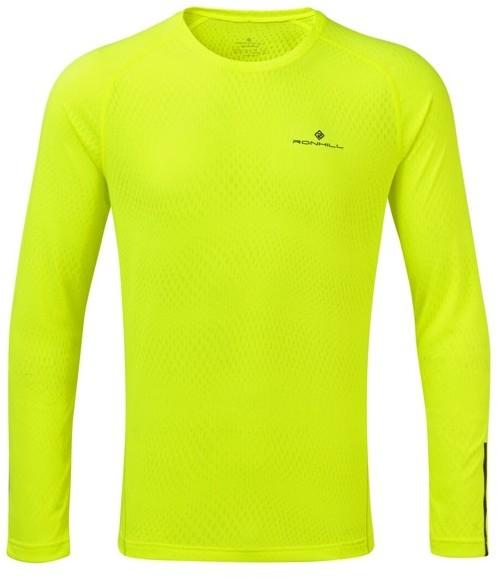 RONHILL RONHILL koszulka biegowa męska STRIDE L/S Tee fluo żółta