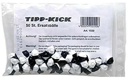 Tipp-Kick (Mieg) Tipp Kick zapasowe piłeczki, 12 prostokątne, 50 szt. , czarny i biały