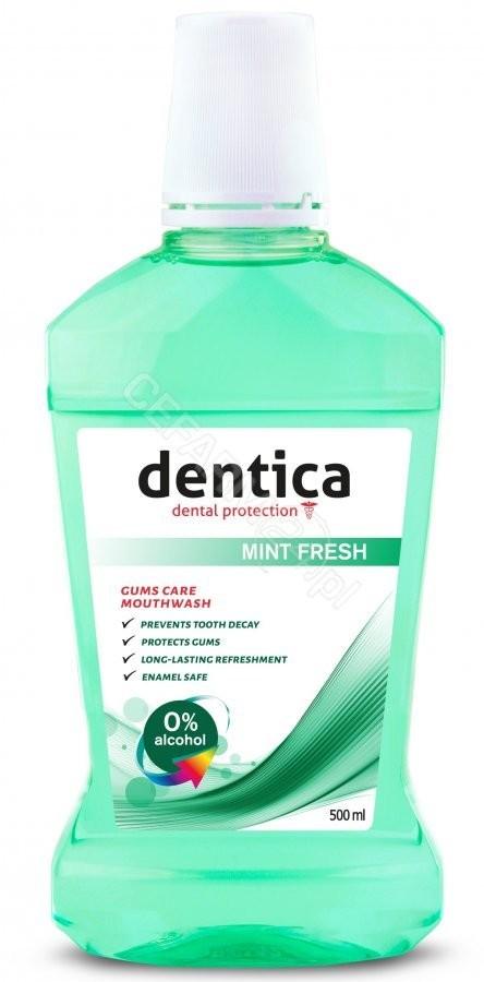 Dentica Mint Fresh Mouthwash Płyn do płukania jamy ustnej 500 ml 5907608610158