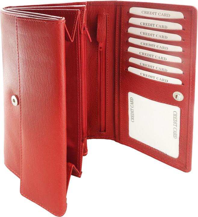 Kemer Portfel damski skórzany 37905211 Czerwony 37905211-0