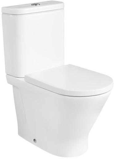 Roca Gap Round Toaleta WC kompaktowa 60x37x79 cm bez kołnierza Rimless biała A3420N7000