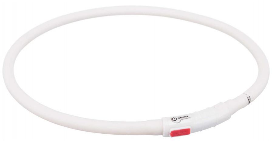 Trixie Opaska silikonowa LED dla psa kolor biały rozm XS-XL nr kat 12640
