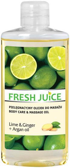 Fresh Juice Fresh Juice Lime & Ginger + Argan oil Pielęgnacyjny olejek do masażu 150ml