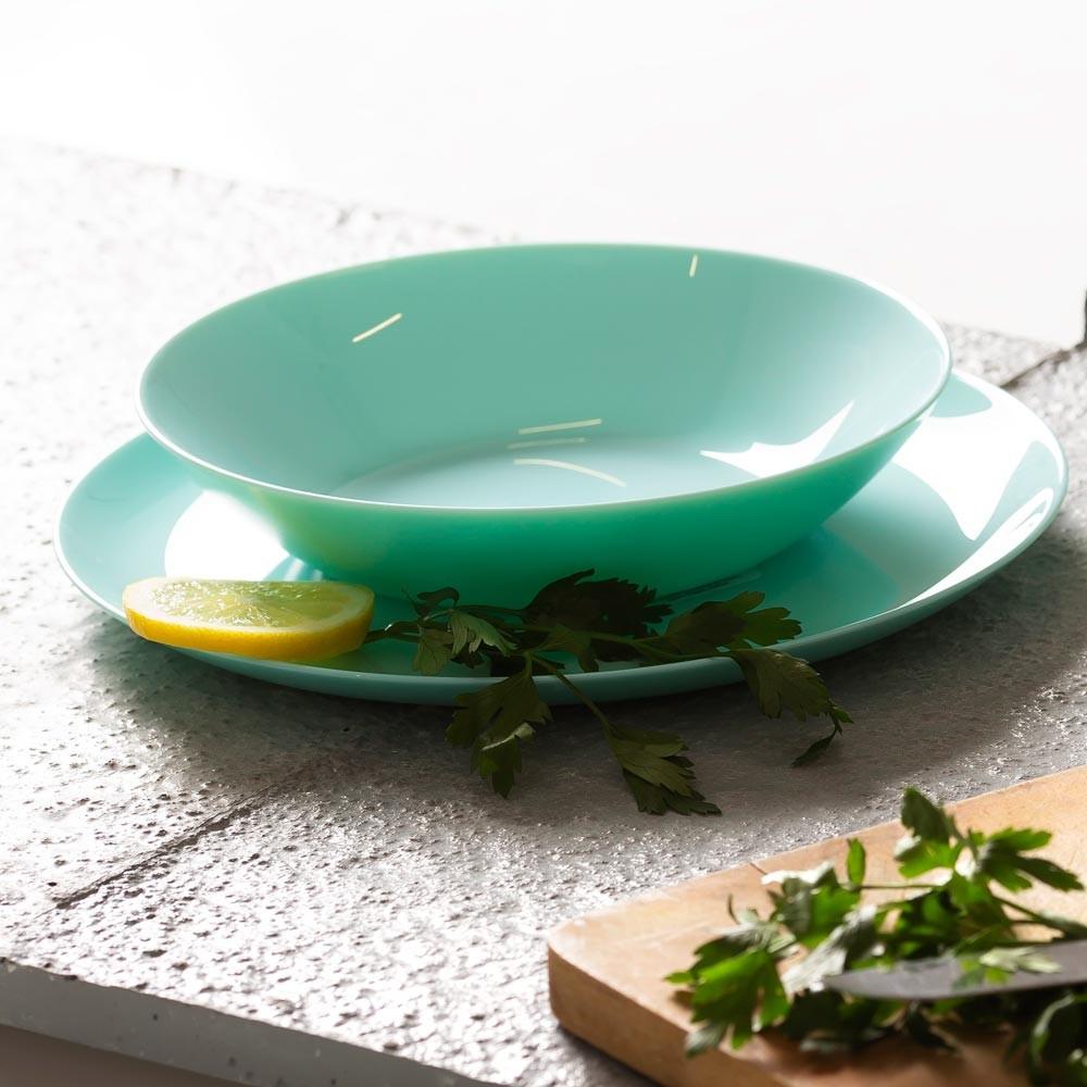 Luminarc Komplet obiadowy Diwali Turquoise 18-elementowy