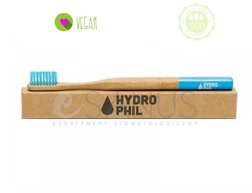 HYDROPHIL Ekologiczna, bambusowa szczoteczka do zębów, średnia, niebieska Szc000011