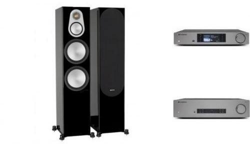 Cambridge Audio CXA81 + CXN v2 + MONITOR AUDIO SILVER 500 Czarny