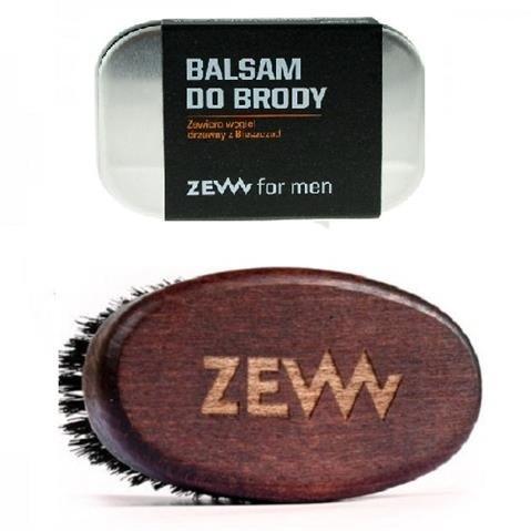 Zew for men Stylowy Brodacz zestaw balsam do brody 80ml + Szczotka Brodacza do profesjonalnej pielęgnacji zarostu 52842-uniw