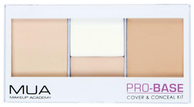MUA PRO-BASE - Cover & Conceal Kit - Zestaw 4 korektorów - SHELL MUABCZKO-4KO