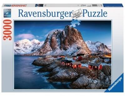 Ravensburger Puzzle 3000 elementów Norwegia Hamnoy Lofoten