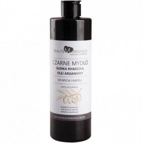 Savon Noir Beaute marrakech Naturalne czarne mydło z olejem arganowym i odżywczą glinką Rhassoul - żel pod prysznic 400ml 6B6C-604BD