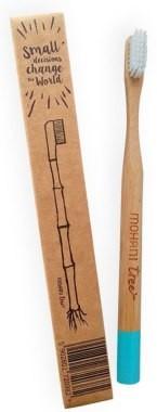 Mohani Bambusowa szczoteczka do zębów, miękka, błękitna - Toothbrush Bambusowa szczoteczka do zębów, miękka, błękitna - Toothbrush