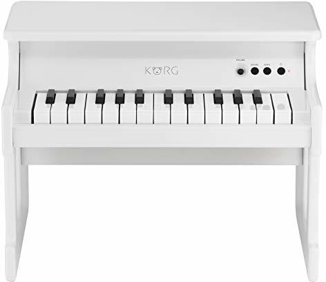 Korg Pianino cyfrowe tinyPIANO, pianino zabawkowe dla dzieci, cyfrowe pianino do wczesnego nauki, pianino dekoracyjne, białe KRTINYWH