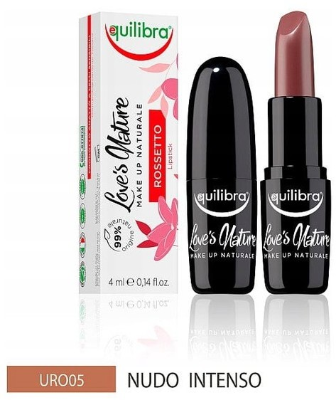 EQUILIBRA Loves Nature pomadka do ust 05 Intense Nude 4ml