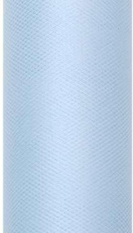PartyDeco Tiul gładki, błękitny, 0,30 x 9 m TIU30-011