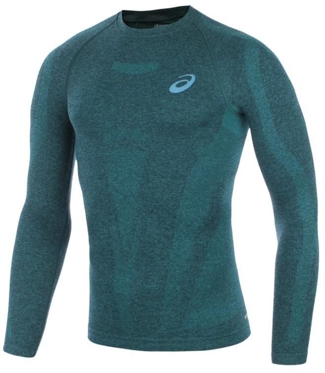 Asics koszulka kompresyjna do biegania męska ASICS LONGSLEEVE TOP / 121088-8123 RUAS-0295/S