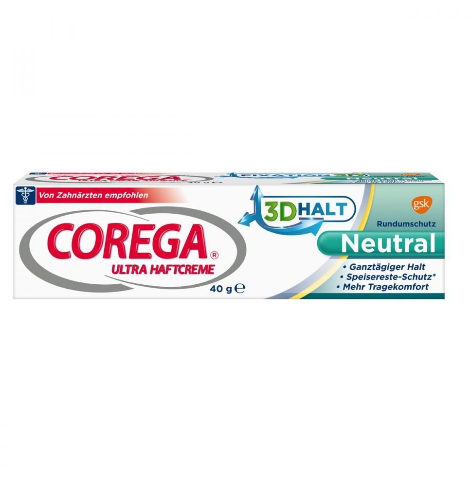 GlaxoSmithKline Consumer Healt Corega ultra Haftcreme klej do protez neutralny smak 40 g