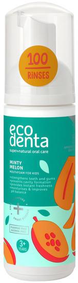 Ecodenta Ecodenta Pianka do płukania jamy ustnej dla dzieci o smaku melona i mięty 150ml